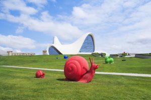 مجموعه فرهنگی حیدر علی اف بلوار ساحلی یکی از جاهای دیدنی باکو