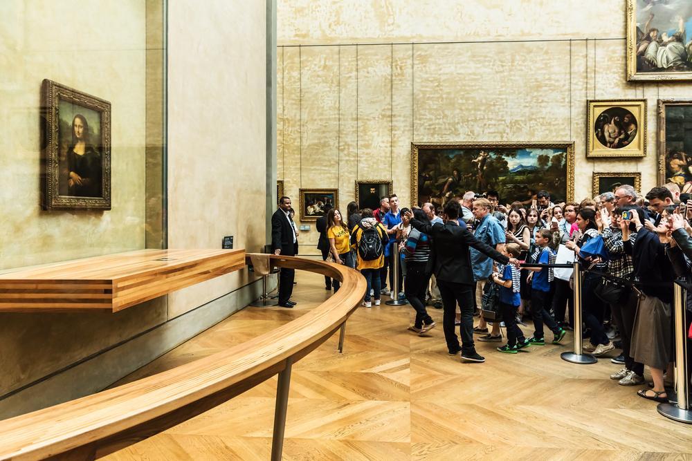 تابلوی مونالیزا در موزه لوور