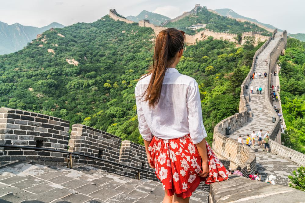 قدم زدن بر روی دیوار چین